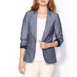 Joie Mehira Linen Open Front Blazer 1065-J1018